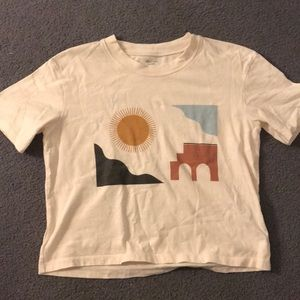 Madewell Cropped Graphic Tee